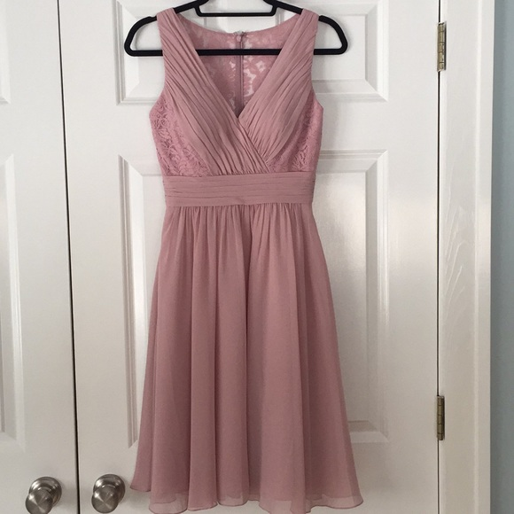 B2 Jasmine Dresses Blush Colored Formal Dress With Lace Back